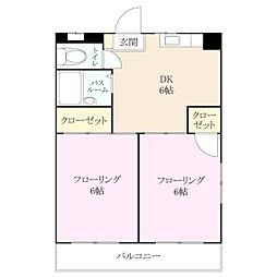アドバンス箱崎[1階]の間取り