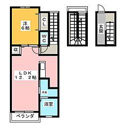 セント ヒルズ プレミエ[3階]の間取り