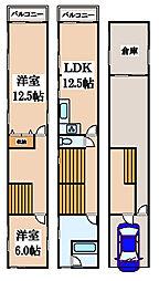 [一戸建] 大阪府堺市堺区少林寺町西3丁 の賃貸【/】の間取り