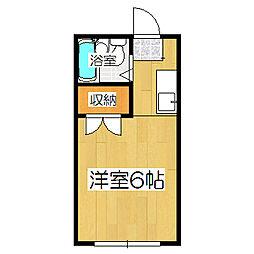 コーポ町柳[203号室]の間取り