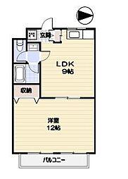 マンション及川2階Fの間取り画像