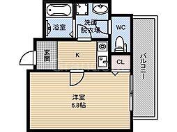 パーラム徳庵[3階]の間取り