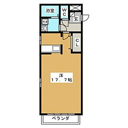 VISAGE笠原[1階]の間取り