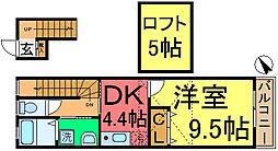 センチュリー東小松川[202号室]の間取り