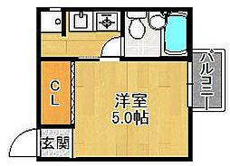 コーポニシキ[2階]の間取り