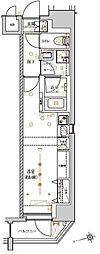 東京メトロ日比谷線 入谷駅 徒歩7分の賃貸マンション 6階ワンルームの間取り