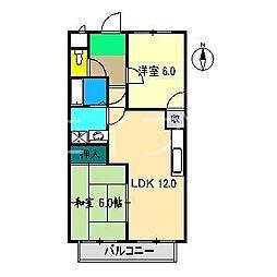 ボーヴィラージュ和田 II[1階]の間取り