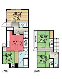 [一戸建] 千葉県千葉市中央区末広2丁目 の賃貸【/】の間取り