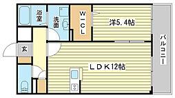 兵庫県姫路市東延末4丁目の賃貸マンションの間取り