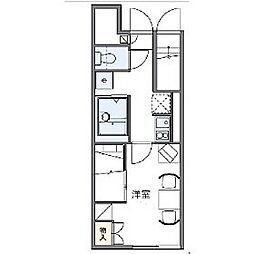 レオパレスステラII[1階]の間取り
