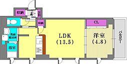 CARETTA神戸元町通[4階]の間取り
