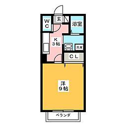 ロータス[1階]の間取り