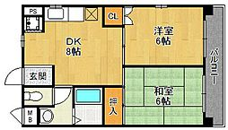 パフィオ武庫之荘壱番館[2階]の間取り