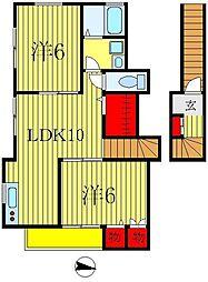 デージーコート相模台II[3階]の間取り