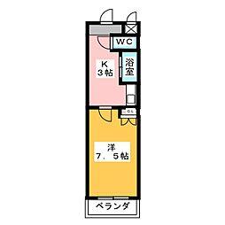 アイルーム一ツ木II[3階]の間取り