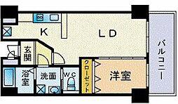 ファロ・ディ・ハルヨシII 6階1LDKの間取り