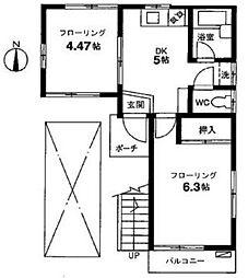 東京都世田谷区代田1丁目の賃貸アパートの間取り