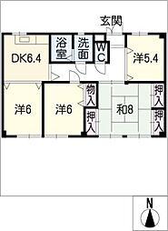 Kビル[2階]の間取り