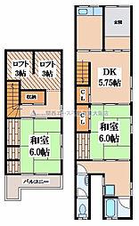 [一戸建] 大阪府東大阪市横沼町3丁目 の賃貸【/】の間取り