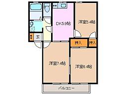グリーンヒル中島 B棟[2階]の間取り