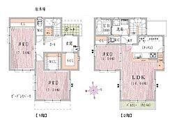 [一戸建] 兵庫県姫路市八代本町1丁目 の賃貸【/】の間取り