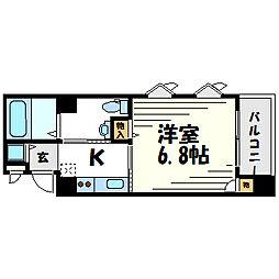 アベニュー甲子園口[4階]の間取り
