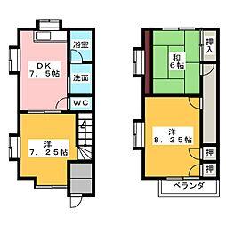 [テラスハウス] 静岡県掛川市高田 の賃貸【/】の間取り