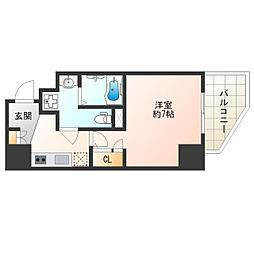 Osaka Metro谷町線 阿倍野駅 徒歩6分の賃貸マンション 13階1Kの間取り