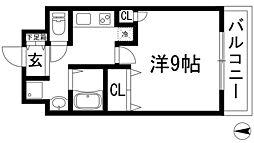 兵庫県西宮市上ケ原九番町の賃貸マンションの間取り