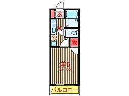 パピヨンジュネス (0060)[202号室]の間取り