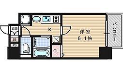 プレサンス難波幸町[3階]の間取り