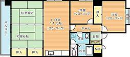 第10岡部ビル[408号室]の間取り