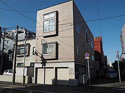 北海道札幌市中央区南六条西の賃貸アパートの外観