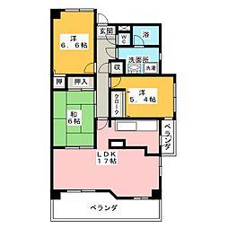 徳川園サンハイツ 801[8階]の間取り