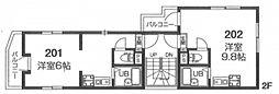 (仮)アクロス上板橋[2階]の間取り