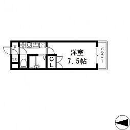 パレイースト小阪[302号室号室]の間取り