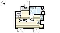 コモンプラザ弐番館[201号室]の間取り