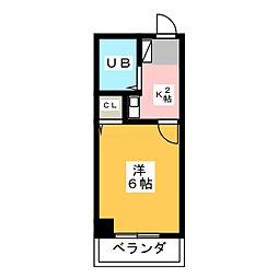 八木兵小田井ハウス[3階]の間取り