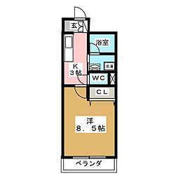 ロワジールKII[4階]の間取り