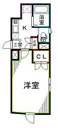 JR総武線 西荻窪駅 徒歩6分の賃貸マンション 1階1Kの間取り