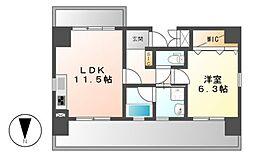 Palazzo Speciale(パラッツォ スペチアーレ)[4階]の間取り