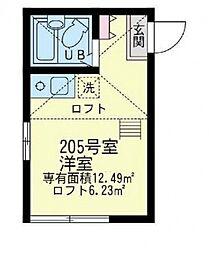 ユナイトステージ南太田[2階]の間取り