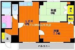 ロータスマンション[6階]の間取り