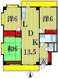 アーク松戸牧の原[5階]の間取り