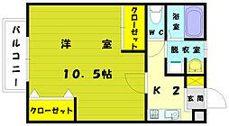 セレッソ津屋崎[2階]の間取り