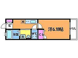 東京都調布市西つつじヶ丘4丁目の賃貸アパートの間取り