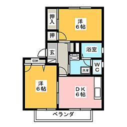 マテールIII・IV[2階]の間取り