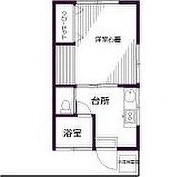 東京都葛飾区東水元3丁目の賃貸アパートの間取り