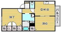 パストラル23[2階]の間取り