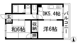 上池田マンション[3階]の間取り